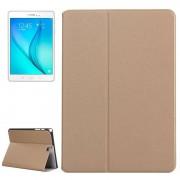 Samsung Galaxy Tab A 9.7 / T555 horizontaal Frosted structuur PU leren Flip Hoesje met houder (goudkleurig)