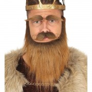 Geen Verkleedbaardset viking bruin