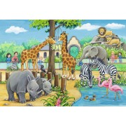 Puzzle Ravensburger - Zoo, 2x24 piese (07806)