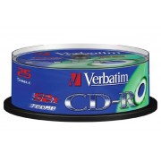 Verbatim CD-R Verbatim 52x 25p 700MB, Spindel, Extra Protection