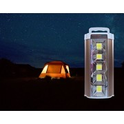 Multi Function Rechargeable Emergency Rock Light COB 5 LED 7.5W Each Lamp 26 Hours Lighting Flash Light With Solar Panel and Two LED 3W Bulbs Mobile Laptop Charger 8000mAh Built In Battery. Mini Inverter for Your Home