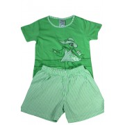 Nelinka dívčí pyžamko 5-6 let světle zelená