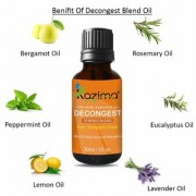 KAZIMA DECONGEST BLEND ESSENTIAL Oil (30 ML) Pure Therapeutic Grade For Mind & Body Sense of Relaxation