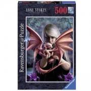 Пъзел Ravensburger 500 елемента, Момиче с дракон, 701104