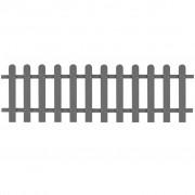 vidaXL Gard din scânduri, lemn compozit, 200x60 cm, gri