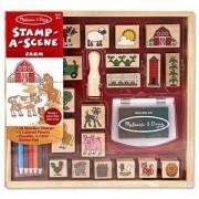 Детски дървени печати - Ферма, 18592 Melissa and Doug, 000772185929