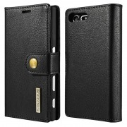 Sony Xperia X Compact Dg.Ming 2-in-1 Wallet Case - Black