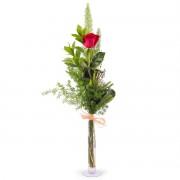 Interflora 1 Rosa Roja de Tallo Largo - Flores a Domicilio