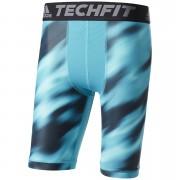 adidas Men's TechFit Climachill 9 Compression Shorts - Energy Blue - S - Energy Blue