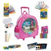 Pachet special Ghiozdan Troler Gradinita DP Collection Kinder Chic 3 in 1 plus articole de colorat