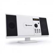 Auna MCD-82 DVD-spelare Stereoanläggning USB SD Vit