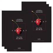 """MCS Format Frame (6 Pack), 13 by 19"""", Black"""
