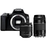 Canon EOS 250D, fekete + 18-55mm DC III + 75-300mm DC III