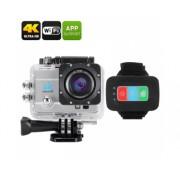 Q3H caméra étanche 4K Sport - SONY CMOS, 16MP, zoom numérique 4x, écran LCS 2 pouces, 170 degrés Grand Angle (Silver)