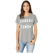 The Original Retro Brand Sunday Funday Mocktwist Rolled Short Sleeve Tee Mocktwist Grey