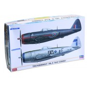 HAS02033 1:72 Hasegawa Thunderbolt Mk.II RAF Combo (2 kits) Limited Edition MODEL KIT