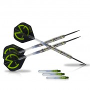 XQmax Darts Joc cu săgeți MvG Green Demolisher, 25g, 70% Tungsten, QD2200030