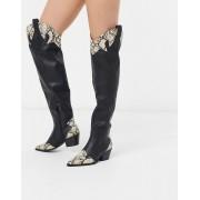 Public Desire Lasso over the knee western boots in black - female - Black - Size: 6