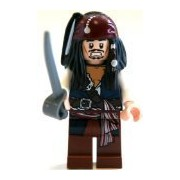 Jack Sparrow Lego Pirates of the Caribbean Minifigure
