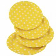 Geen 8x Gele wegwerp bordjes met witte stippen 23 cm