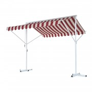 Outsunny Standmarkise Doppelmarkise Weinrot 3m x 3m x 2,6m