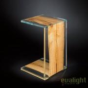 Masuta eleganta, LUX design Glass&Wood VENEZIA 40x40cm 7511781.00