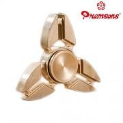 Premsons Fidget Spinner Metal Arrow Head Hand Spinner Ultra Speed Tri-Spinner Toy - Metallic Gold