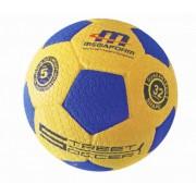 Megaform futball labda, street soccer No.5, hard gumi focilabda autógumi kerékmintázattal kültéri ha