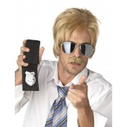 Deguisetoi Perruque et moustache d'agent secret blond