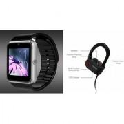 Zemini GT08 Smart Watch and QC 10 Bluetooth Headphone for SAMSUNG GALAXY S III NEO+(GT08 Smart Watch with 4G sim card camera memory card |QC 10 Bluetooth Headphone )