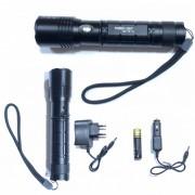 Lanterna Metalica LED 3W cu Zoom, Acumulator, 12V, 220V MXT612