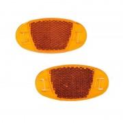 Merkloos 2x spaakreflectoren / fiets reflectoren oranje