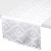 Linnea Chemin de table 45x150 cm Jacquard 100% polyester BRUNCH blanc