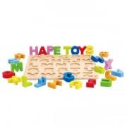 Jucarie eco din lemn Puzzle Alfabet Hape