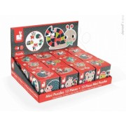 Janod - Mini puzzle din carton cu animale din padure - J02852