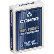 Plastic speelkaarten Blauw 4 hoeken - Copag
