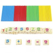 Easydeal Kids Wooden Numbers Mathematics Early Count Learning Educational Toy