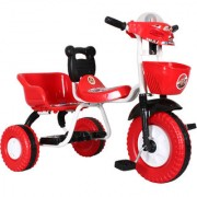 EZ' Playmates space racer tricycle with double seat music and led lights - Red