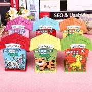 Kinder Kollege Piggy Banks, Wooden Animal Design Piggy Bank for Kids, Boys, Girls, Birthday Return Gift for Kids, Money Box / Saving Box / Home Décor / Piggy Bank / Coin Box / Birthday Return Gift Combo - set of 6