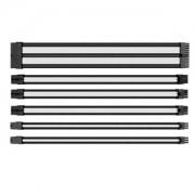 Set cabluri prelungitoare Thermaltake TtMod Sleeve Cable Kit, cleme incluse, 300mm, Black / White