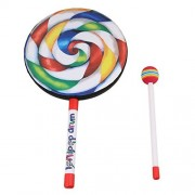 "BQLZR 7.9"" Lollipop Shape Hand Drum Percussion Musical Instruments Education Toys for Kid and Baby with Candy Drumstick"