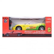 Toyvala Remote Control Open First Leader Car(1:24)-Yellow
