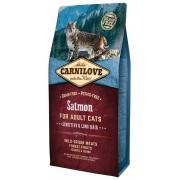 Hrana uscata pentru pisici Carnilove Cat Sensitive & Long Hair cu Somon, 6 Kg