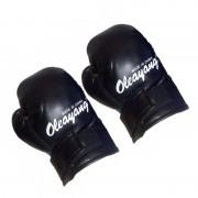 Manusi de box pentru copii Oleayang, 4 Oz, piele sintetica, Negru