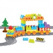 Set De Constructii Cu Trenulet - 89 Piese