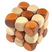 Shy Shy Wooden Snake Cube Brain Teaser Desk Decor Enhance Your Brain Power Enhance Focus Or Concentration