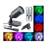 LED-RGB-Projektor für Wellen-Licht-Effekte, Timer, Fernbedienung, IP65