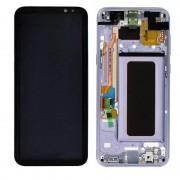 Samsung LCD-display komplett uppsättning GH97-20470 C lila för Samsung Galaxy S8 plus G955 G955F