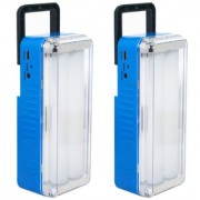 X-EON L112s OliteRock Rechargeable Emergency Light Portable 10W With Solar Plate - Multi Color (Pack of 2)