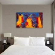 Tablou Canvas Premium Abstract Multicolor Culori Tari 2 Decoratiuni Moderne pentru Casa 80 x 160 cm